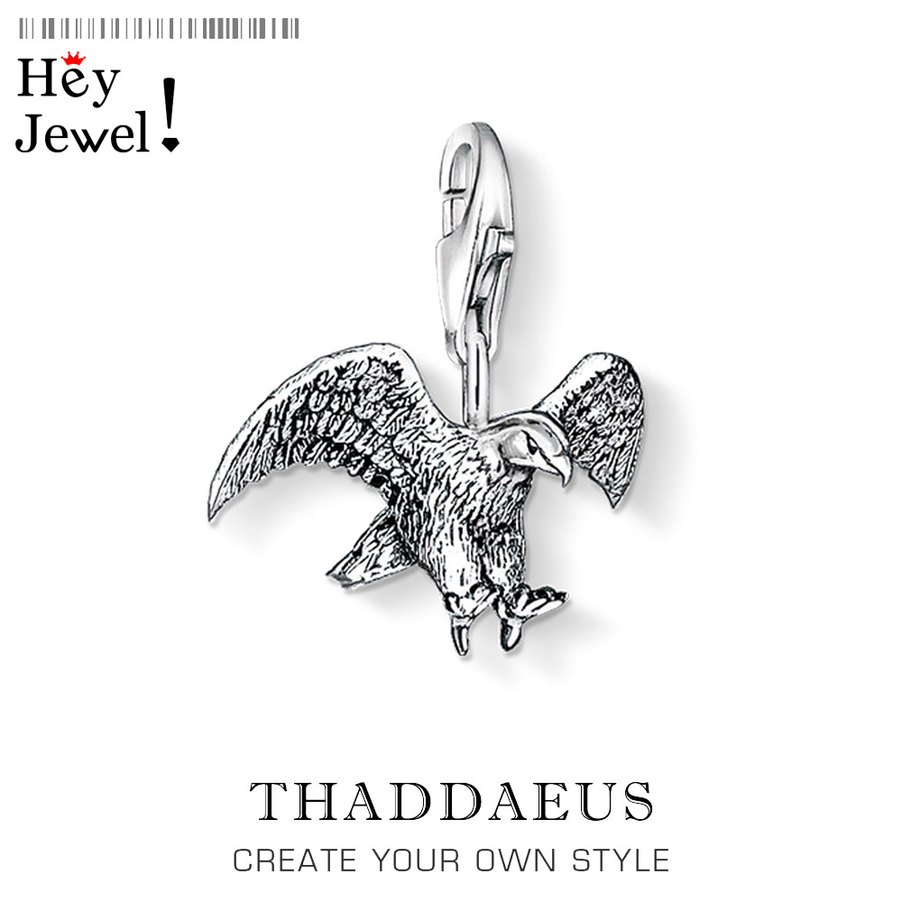 Flying Eagle Charm Pendant Fit Bracelet Necklace 2020 Spring New 925 Sterling Silver Trendy Gift For Women Men Jewelry