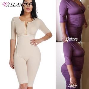 Image 1 - Plus Size Fat Burning Full Body Shaper Slimming Bodysuits Postpartum Recovery Waist Trainer Butt Lifter Weight Loss Shapewear
