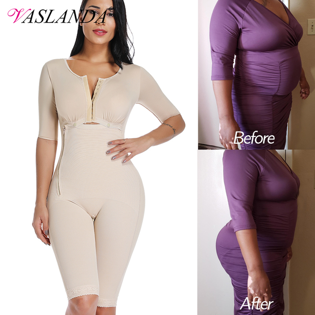 Plus Size Fat Burning Full Body Shaper Slimming Bodysuits Postpartum Recovery Waist Trainer Butt Lifter Weight Loss Shapewear