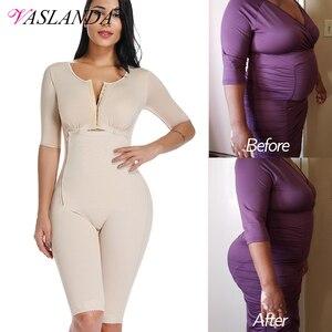 Image 1 - בתוספת גודל שומן שריפת מלא גוף Shaper הרזיה Bodysuits התאוששות לאחר לידה מותניים מאמן התחת מרים משקל אובדן Shapewear