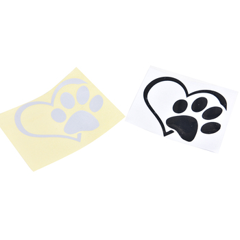 1pc bumper window adopt bully Heart cat dog Laptop Boat Truck AUTO Bumper Wall Graphic Heart Paw Vinyl Decal car truck sticker image