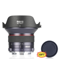 MEKE 12mm f/2.8 Ultra Wide Angle Fixed Lens for Canon EF M mount cameras+Free Gift