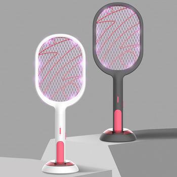Akumulator USB elektryczna packa na komary owad Fly Handheld przenośna do domu yu-home tanie i dobre opinie Aleekit CN (pochodzenie) 220 v 3-warstwowa 3000 V Electric 4-6 Godzin Elektryczne Kabel usb do ładowania