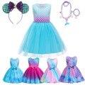 Детский костюм Русалочки Ариэль, комплект для косплея, летняя вечерние девочек