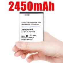 2450mAh AB463651BU AB463651BE Batterie pour Samsung S7070 S5608 S3370 L700 w559 S5628 C3222 F270 F400 M7500 M7600 S3650 S3830 S560