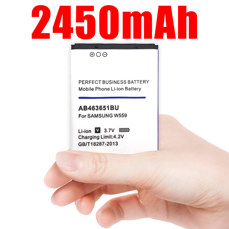 2450mAh AB463651BU AB463651BE Battery for <font><b>Samsung</b></font> S7070 S5608 S3370 <font><b>L700</b></font> w559 S5628 C3222 F270 F400 M7500 M7600 S3650 S3830 S560 image