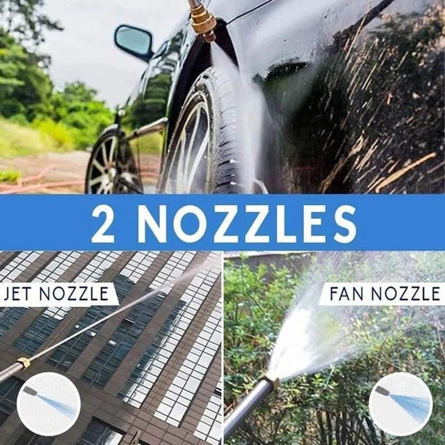 2-in-1 High Pressure Washer 2.0 - Water Jet Nozzle Fan Nozzle Safely Clean High Impact Washing Wand Water Spray Washer Water Gun 5