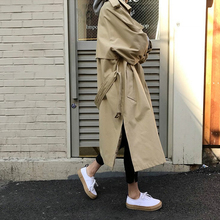 Autumn New Women Casual Trench Coat Oversized Double Breasted Vintage Outwear Sashes Chic Cloak Female Windbreaker