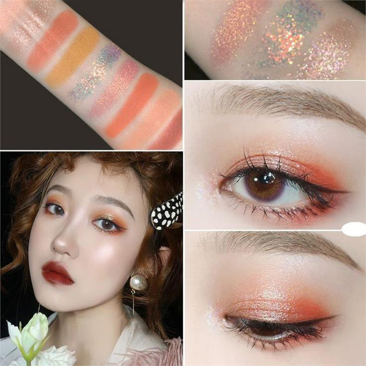 Novo 9 cores sombra glitter galaxy sombra paleta pigmento shimmer matte maquiagem flash brilho diamante sombra kit cosméticos