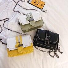 new Women Bag Contrast color Shoulder Bags PU Leather women's Designer Handbags Crossbody Bags For Women Famous Brand Sac Femme недорго, оригинальная цена