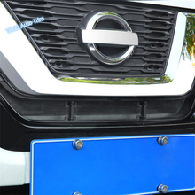Lapetus Auto Styling Front Center Grille Insect Screening Mesh Insert Net Cover Trim Fit For Nissan Rogue / X-trail 2017 - 2020 dot mesh insert crochet trim shirt
