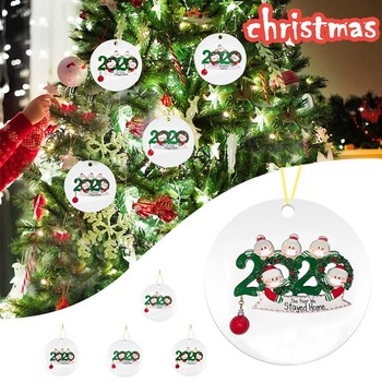 2020 New Christmas Tree Decoration Survived Family Lighted Pendant Faceless Old Man Pendant Unique Christmas Tree Ornament christmas decoration old man snowman elk christmas gift small pendant plush doll christmas tree pendant decoration