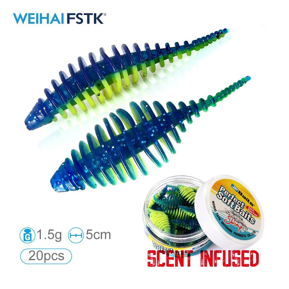 worm bait soft bait 1.5g 5cm 20pcs/jar Casting fishing lures Pesca carp fishing bass artificial Lure
