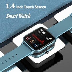 Image 2 - P8 akıllı İzle erkekler kadınlar 1.4 inç tam dokunmatik spor Tracker spor nabız IP67 su geçirmez Xiaomi Amazfit GTS