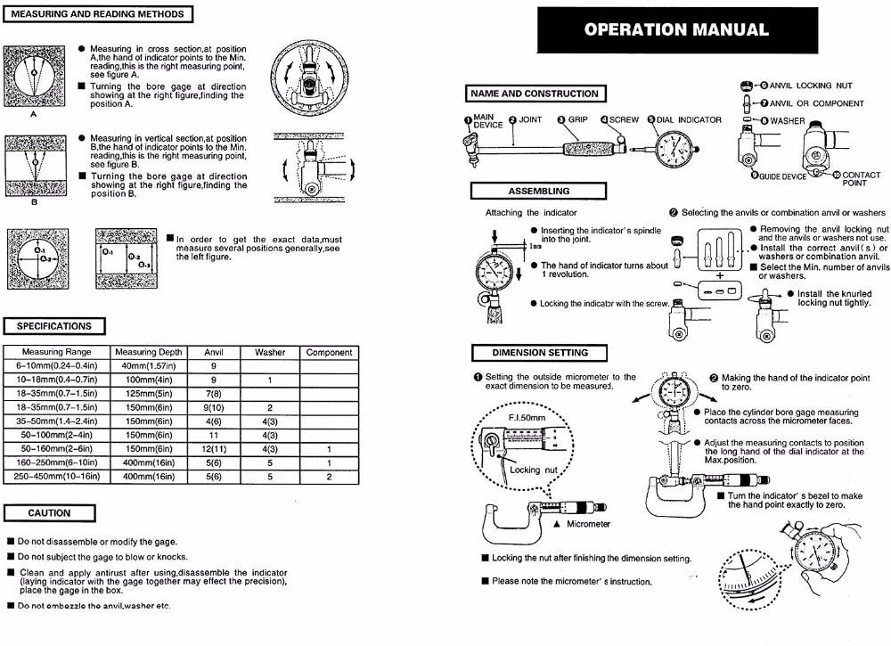 """""""-6"""" Диаметр отверстия 0,00"""" глубокий двигатель отверстие цилиндра измерения Калибр цилиндр 50-160 мм 0,01 мм Циферблат отверстие индикатор Калибр"""