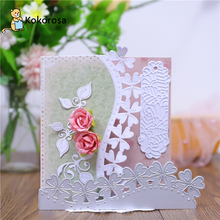 DiyArts Lace Flower Border Frame Metal Cutting Dies For DIY Scrapbooking Card Make Embossing Craft Die Cut Template New 2020 diy scrapbooking lace border background metal cutting dies craft die cut embossing stamps new 2018 stencil template