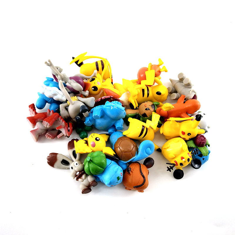 24p/set New Generation 4-5cm Pikachu Action Figure Cartoon Anime Pokemon Action Figure Kids Toys For Children Decoration