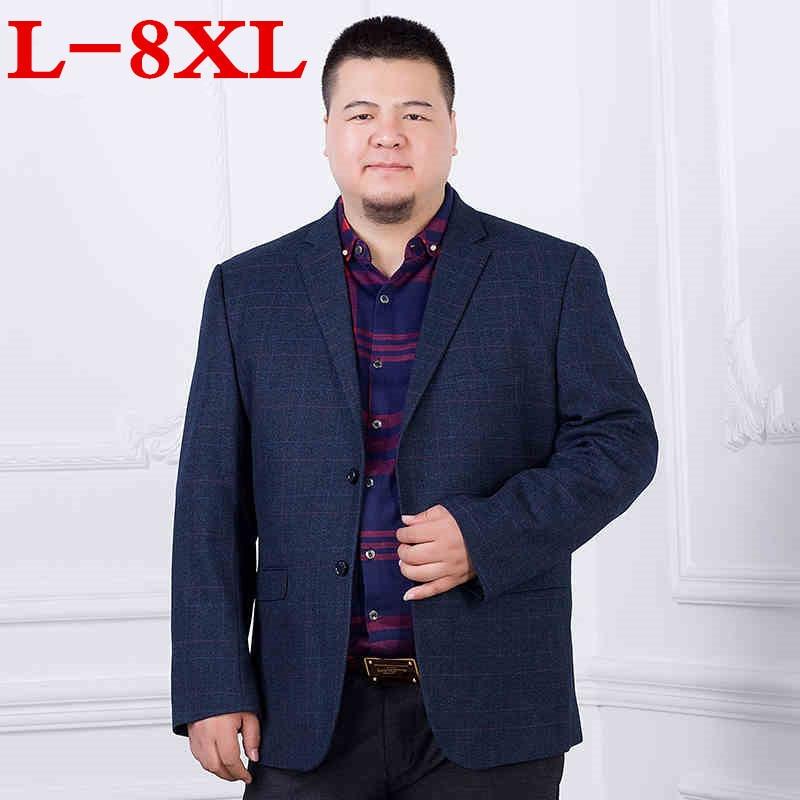 New 8XL 7XL 6XL New Arrival Business Mens Blazer Casual Blazers Men Lattice Formal Jacket Popular Design Men Dress Suit Jackets