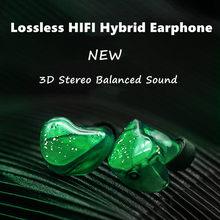 A5 Lossless HiFi Earphone 3D Stereo Powerful IEM Hybrid Earbuds 1BA+1DD Balanced Monitor Stage DJ Headphone 2PIN Phone Headset