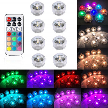 цены Submersible LED Lights Flameless LED Candles Tea Lights Battery Operated Underwater Light for Party Events Wedding Halloween