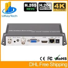 H.265 H.264 IP to SDI HDMI VGA CVBS Video Streaming Decoder SRT IP Camera Decoder for Decoding HTTPS RTSP RTMP UDP M3U8 HLS SRT