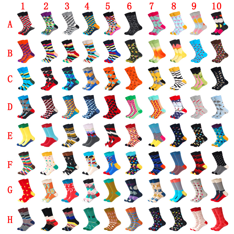 10pairs/lot Compression Socks Mens Dress Socks Streetwear Chrismas Gifts 43 Selects & Free Combination Winter Cotton Happy Socks