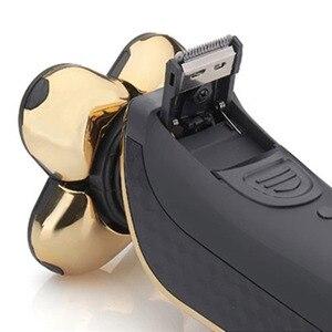 Image 5 - נטענת חשמלי מכונת גילוח כל גוף כביסה 5D צף ראש גילוח מכונת לגברים עמיד למים חשמלי תער 43D