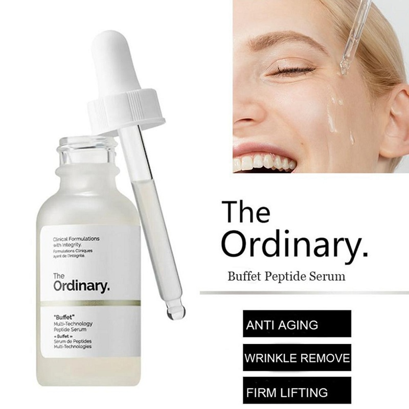 The Ordinary buffet Firming Anti Wrinkle 30ml Target Anti Aging Face Serum Multi-Technology Peptide Serum Skin rejuvenation image
