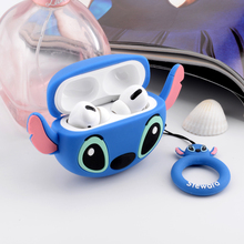 3D cartoon stitch case For Airpods Pro Case Silicone Duck ring Headphone/Earpods
