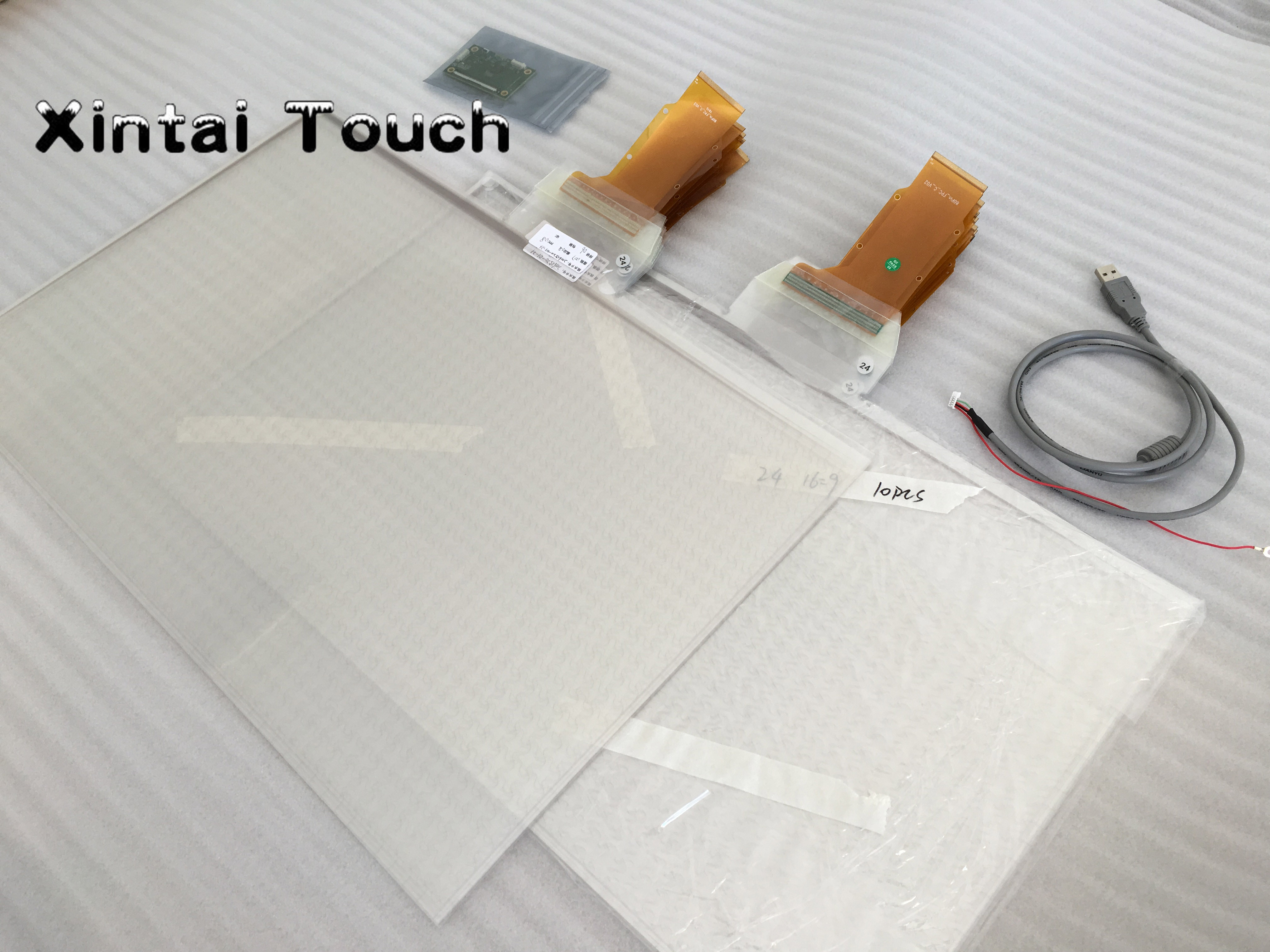 22 inch Clear touch foil, 10 points interactive touch foil, USB touch film for glass