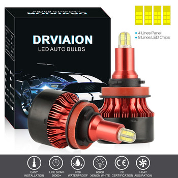 8-sides 3D Mini LED Headlights Conversion Kit Bulbs 18000LM High Power H11 Car Led Light Voiture Headlight Dropshipping машина image
