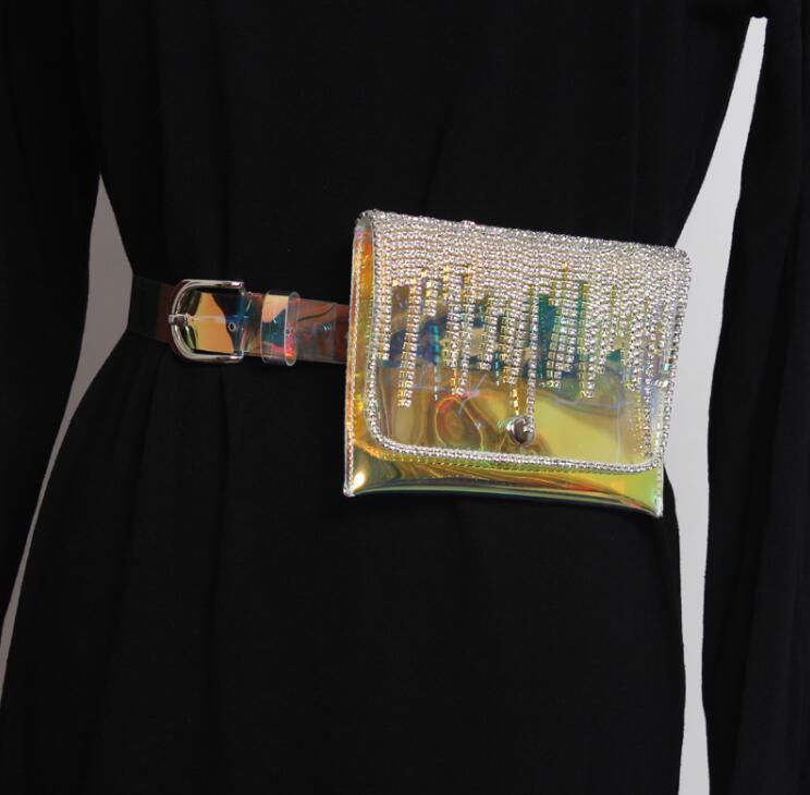 Women's Runway Fashion Diamonds PVC Cummerbunds Female Dress Coat Corsets Waistband Belts Decoration Wide Belt R1791