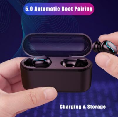 Q32 Wireless Earbuds 5.0 Bluetooth Earphone Headphone Mini TWS Earphones for iPhone/Samsung/HUAWEI Hearing-aid Stereo Bass Cheap image