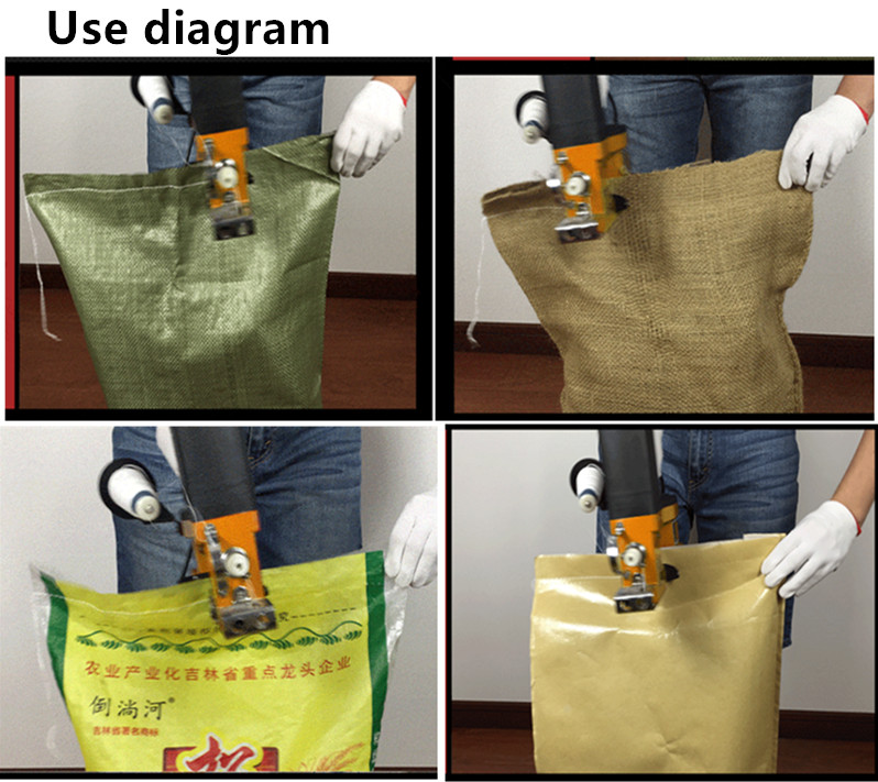 NEW220V/110 V GK9 350electric machine à coudre portable sac tissé sac de riz étanchéité presse express machine de conditionnement automatique - 6
