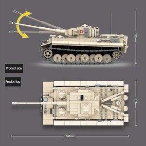 Image 4 - 1018 pièces militaire tigre 131 réservoir blocs de construction compatibles WW2 armes soldats armée briques ensemble enfants enfants jouets enfants cadeaux