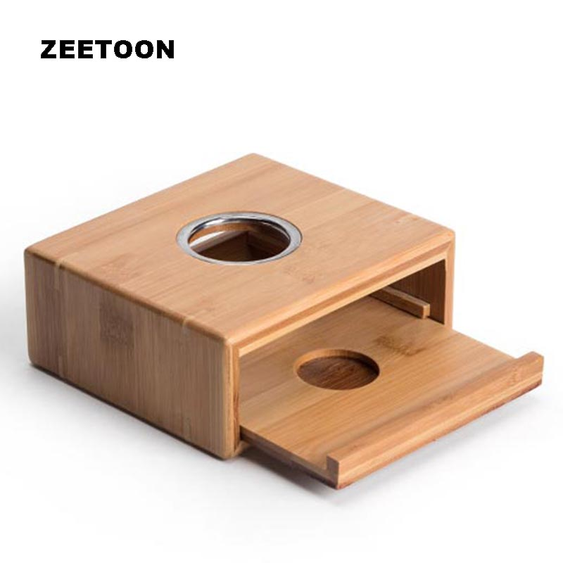 Natural Bamboo Warm Base Tea Warmer Warm Coffee Water Stove Candle Heater Heating Teapot Stand Shelf Holder Teaware Accessories