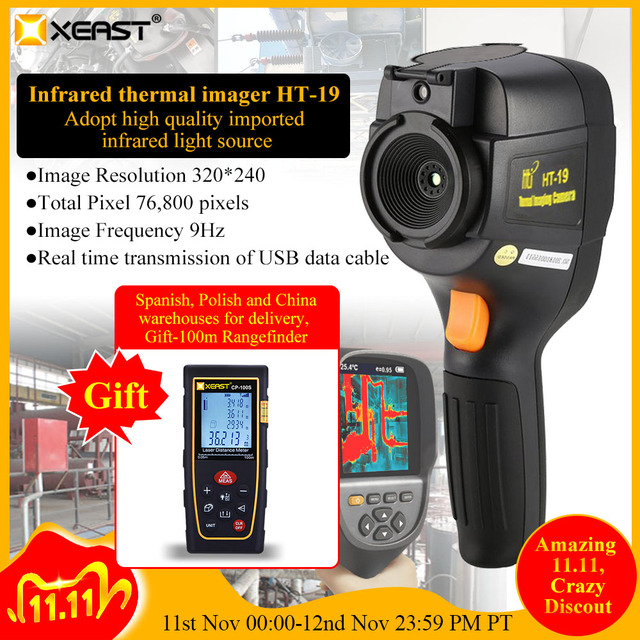 XEAST Professional Edition Handheld HT 19 Infrared Thermal Imager 320*240 HD detector 0.07 high sensitivity Free multimeter