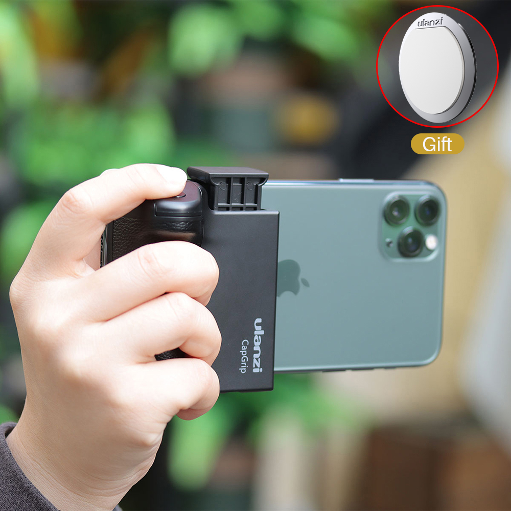 Ulanzi  Smartphone Handheld Selfie Booster Hand Grip Bluetooth Remote Control Phone Shutter Universal For IPhone Android Phone
