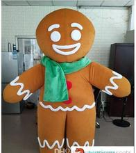 New Adult Funny Gingerbread Man cartoon Mascot costume Christmas Fancy Dress Halloween carvinal event outfit cosplay customized