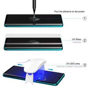 Image 4 - Screen Protector Gehärtetem Glas Für XiaoMi Hinweis 10 mit fingerprint entsperren UV Glas film volle abdeckung für MI Hinweis 10