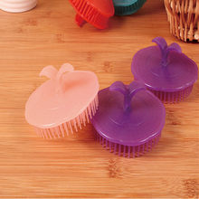 1pcs Head Massage Brush Soft Glue Shampoo Brush Bathroom Products Plastic Sanitary Comb Washing Hair Scalp Shower Body(China)
