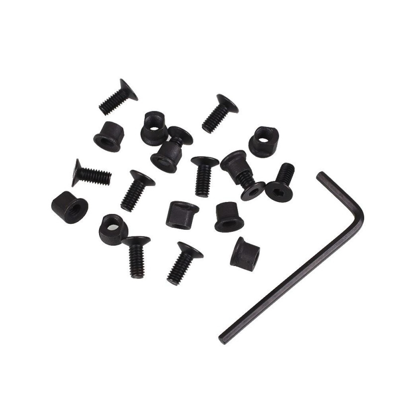 20Pcs/lot Metal Screw And Nut Replacement Set Fit M-LOK Rail Sections For Hunting Keymod Rail Sections Accessories