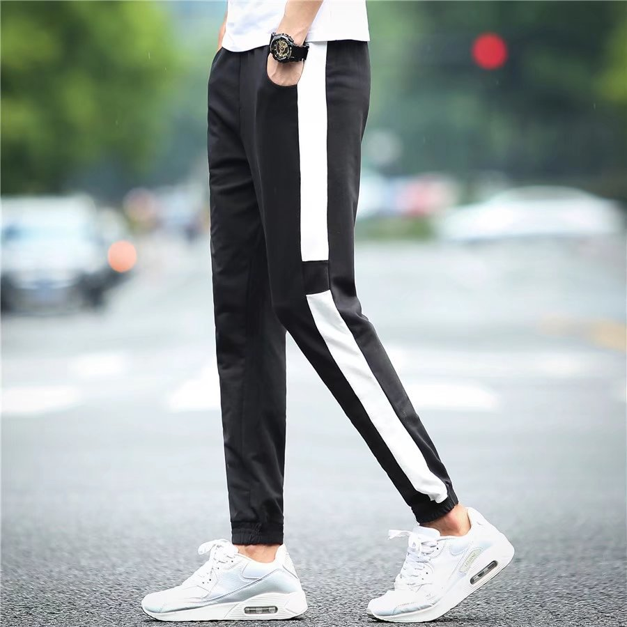 776 Autumn Run-Men-Style Thin Trend Beam Leg Athletic Pants Teenager Casual Simple Harem Pants