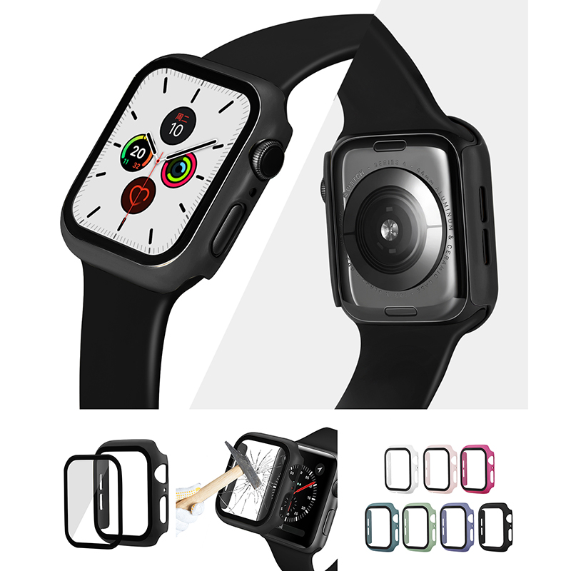 Super Thin Iwatch Cover With Screen Protector Waterproof Bumper Scratch Accessories Case For Apple Watch Series 5/4 44mm 40mm