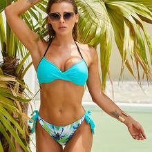 Hot Push Up Bikini Halter strój kąpielowy kobiety strona krawatowa stroje kąpielowe strój kąpielowy pani strój kąpielowy damskie stroje kąpielowe stroje kąpielowe Badpak Maillot tanie tanio NZBQHB CN (pochodzenie) Stałe Patchwork Osób w wieku 18-35 lat Niski stan Bikini set Fiszbiny Push up women swimwear Pasuje mniejszy niż zwykle proszę sprawdzić ten sklep jest dobór informacji