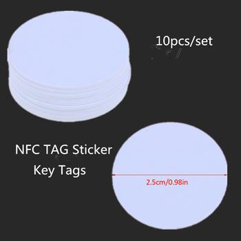 10 sztuk partia NFC TAG naklejki kluczowe tagi Llaveros Llavero Token Patrol uniwersalna etykieta RFID Tag Mini NFC telefon Tag tanie i dobre opinie NONE CN (pochodzenie)