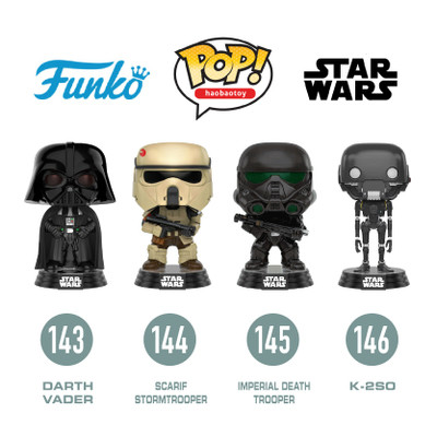 FUNKO POP Star Wars Darth Vader Luke Skywalker  PVC Action Figure Collectible Model Toy