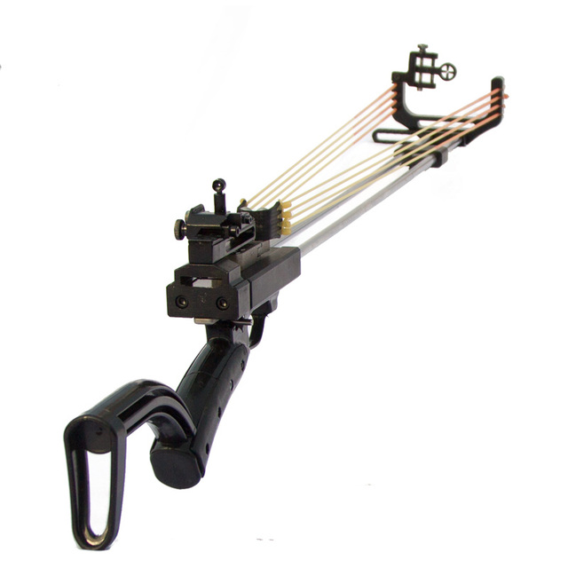 New Version Wolf King Rifle Slingshot Hunting Catapult With Metal Sight Powerful Stainless Slingshot For Outdoor Shooting WK33 2