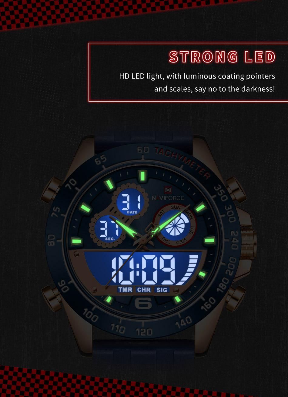 Naviforce 9188 Rubber Belt Sport Watch 6