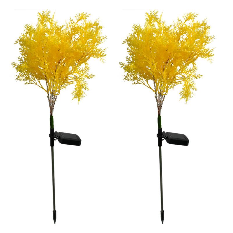 LED Waterproof Solar Simulation Flower Lawn Lamp Outdoor Landscape Lamp Lawn Lamp Home Decoration Flower Night Light